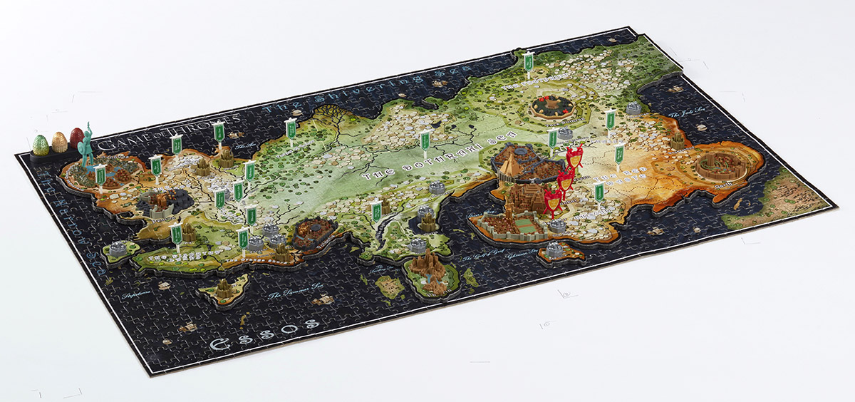 4D Game of Thrones : Essos Maps / Geography Jigsaw Puzzle