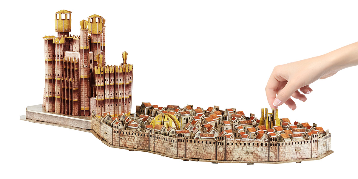 3D Game of Thrones: Kings Landing Castles Jigsaw Puzzle