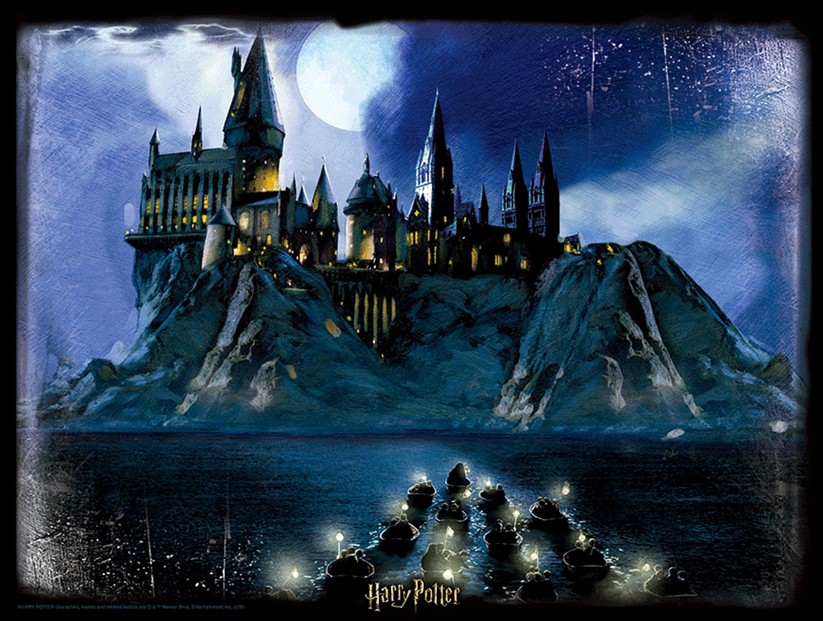 Lenticular Harry Potter Hogwarts at Night Movies / Books / TV Jigsaw Puzzle