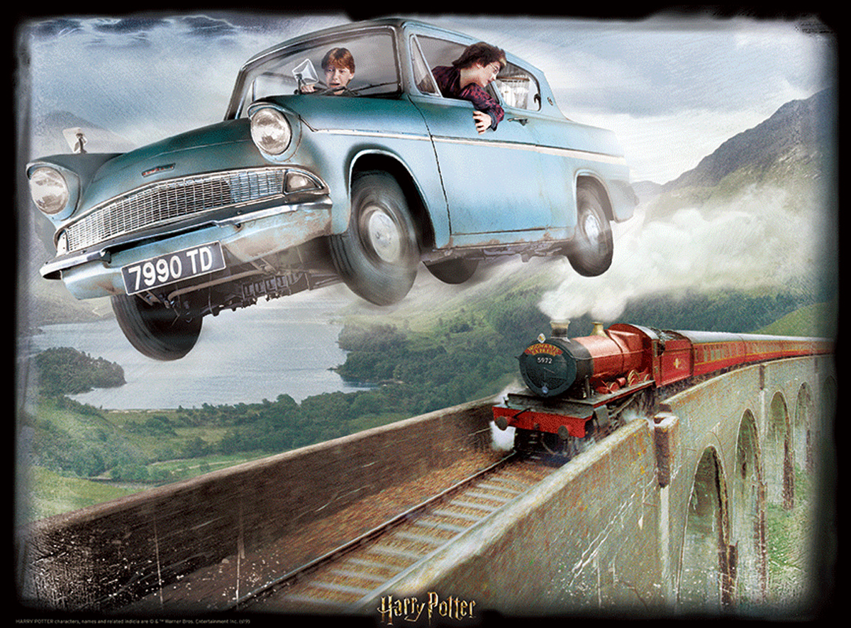Lenticular Harry Potter Ford Anglia Movies / Books / TV Jigsaw Puzzle