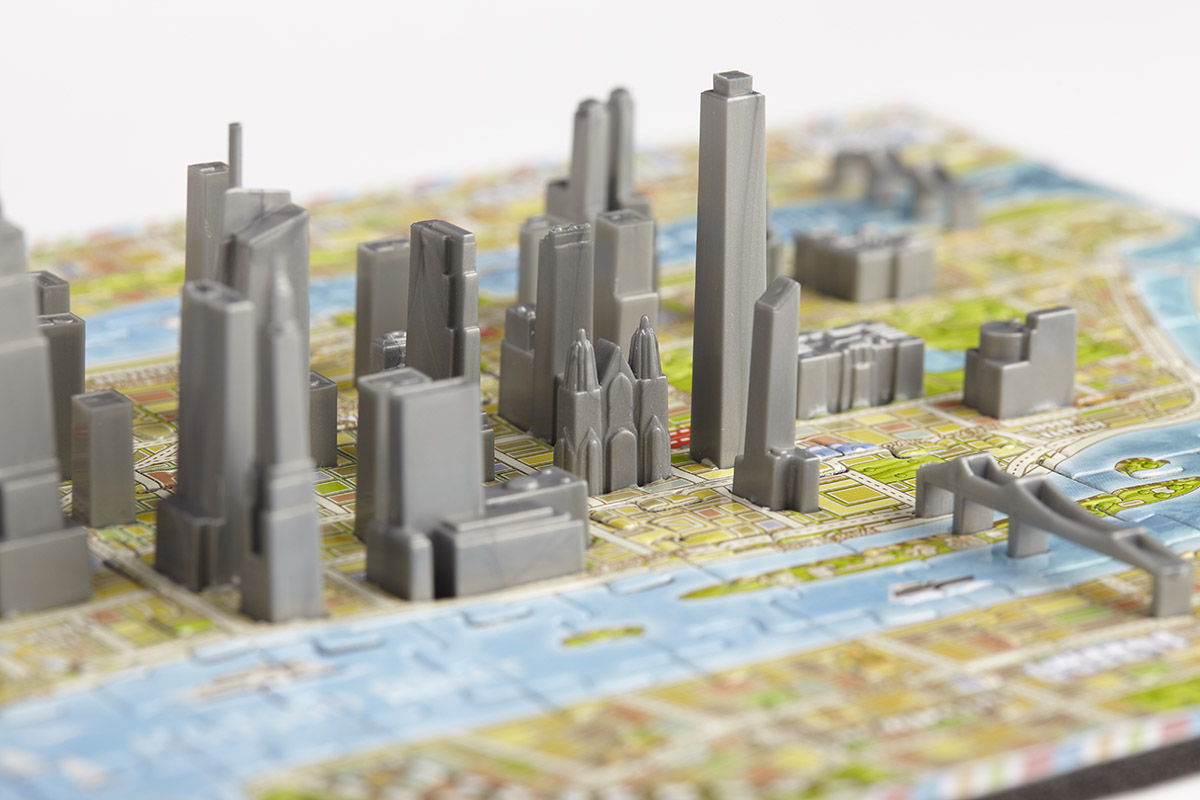 4D Mini New York Maps / Geography Jigsaw Puzzle