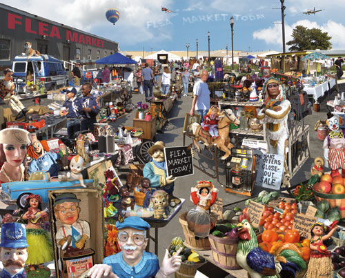 Flea Market Everyday Objects Hidden Images