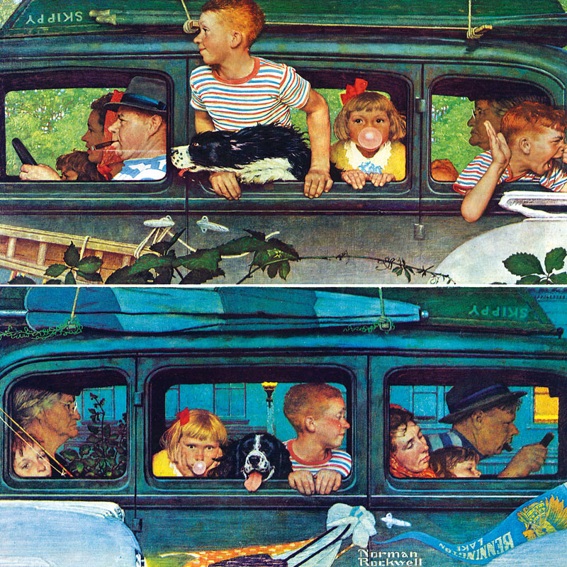 Coming and Going Nostalgic / Retro Jigsaw Puzzle