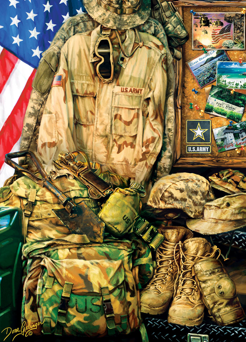 Army Strength Patriotic Jigsaw Puzzle