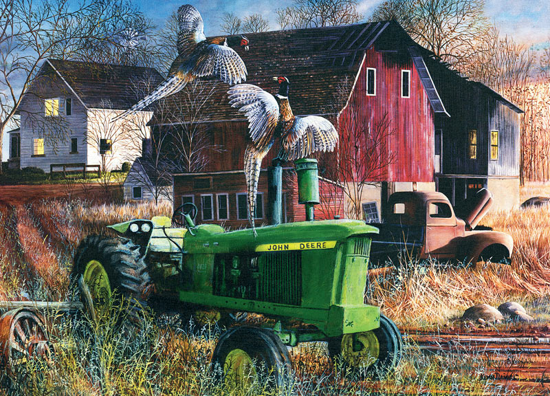 Girly John Deere Paintings : Barnyard tussle jigsaw puzzle puzzlewarehouse