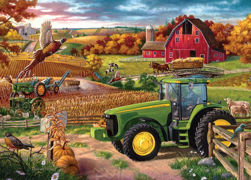 Girly John Deere Paintings : Years of deere jigsaw puzzle puzzlewarehouse