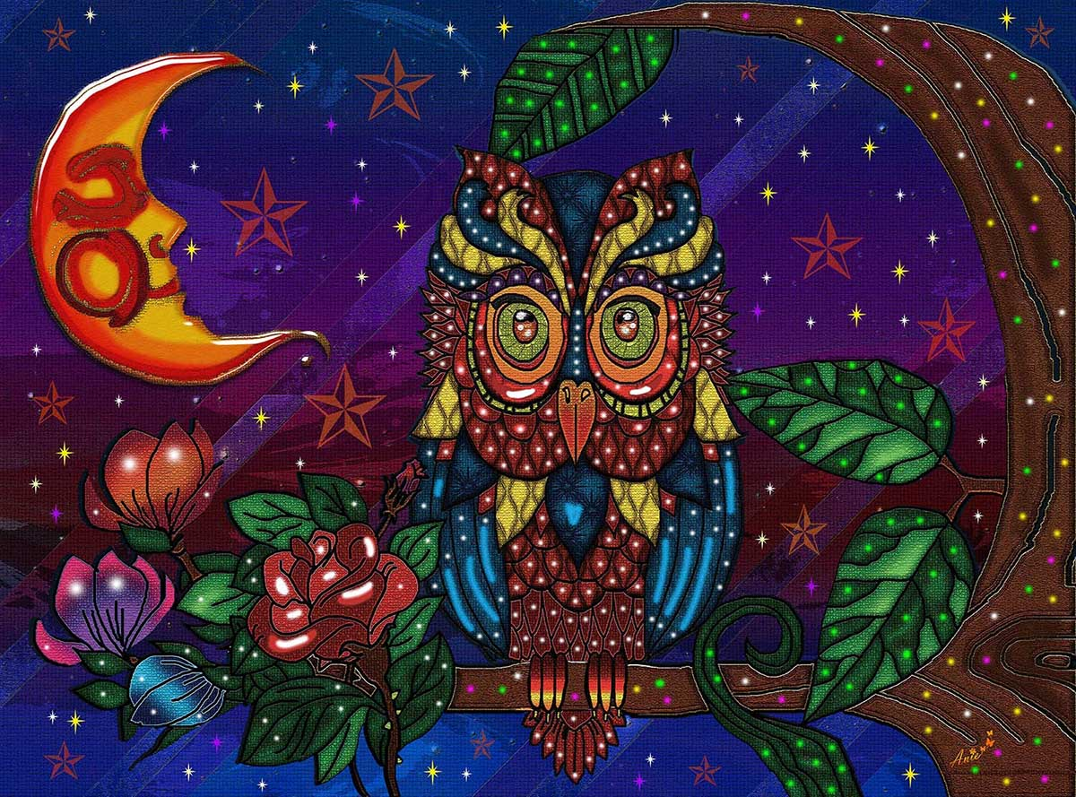 Night Guardian Owl Jigsaw Puzzle
