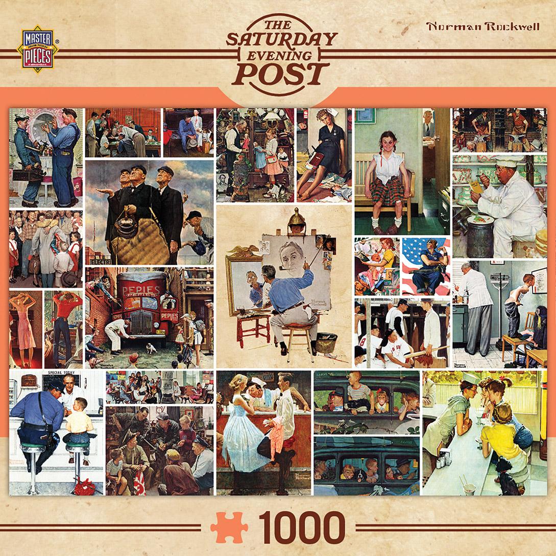 Rockwell Collage Nostalgic / Retro Jigsaw Puzzle