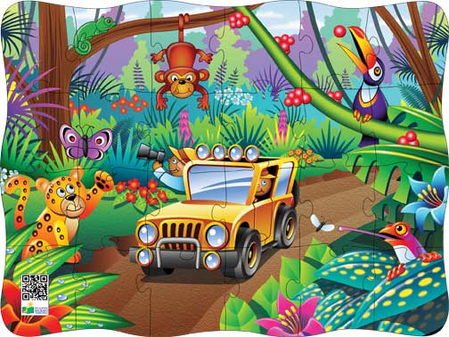 Puzzles in Motion-Click It! Rainforest Jungle Animals Jigsaw Puzzle