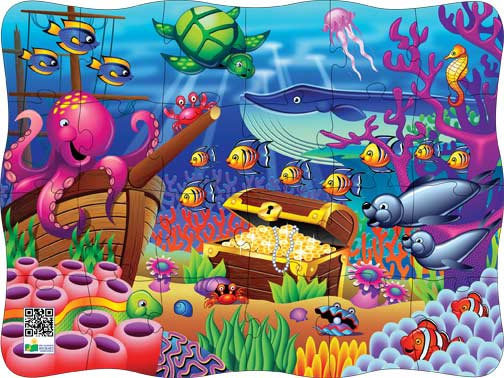 Puzzles in Motion-Click It! Ocean Marine Life Jigsaw Puzzle