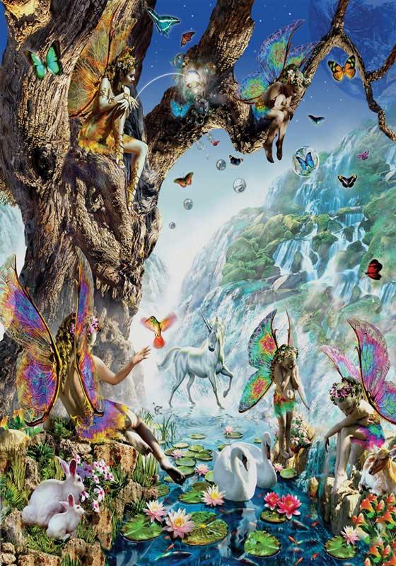 Fairy Falls Fairies Jigsaw Puzzle