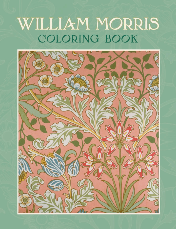 William Morris Coloring Book Flowers