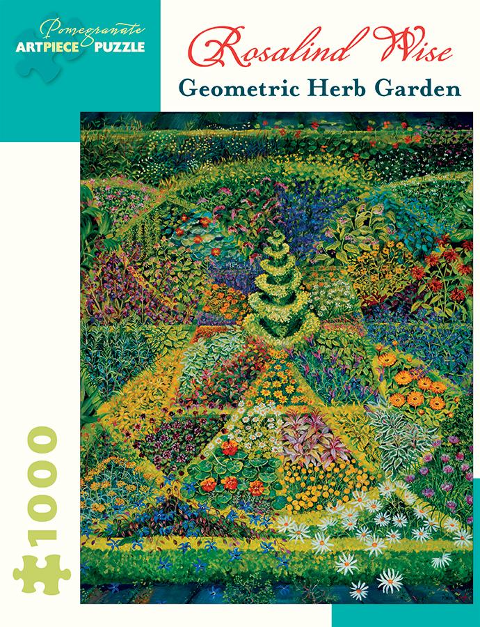 Geometric Herb Garden Flowers Jigsaw Puzzle