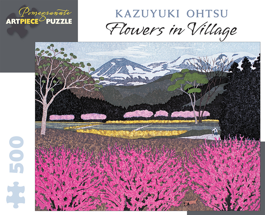 Flowers In Village Mountains Jigsaw Puzzle