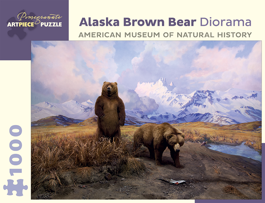 Alaska Brown Bear Diorama Bears Jigsaw Puzzle