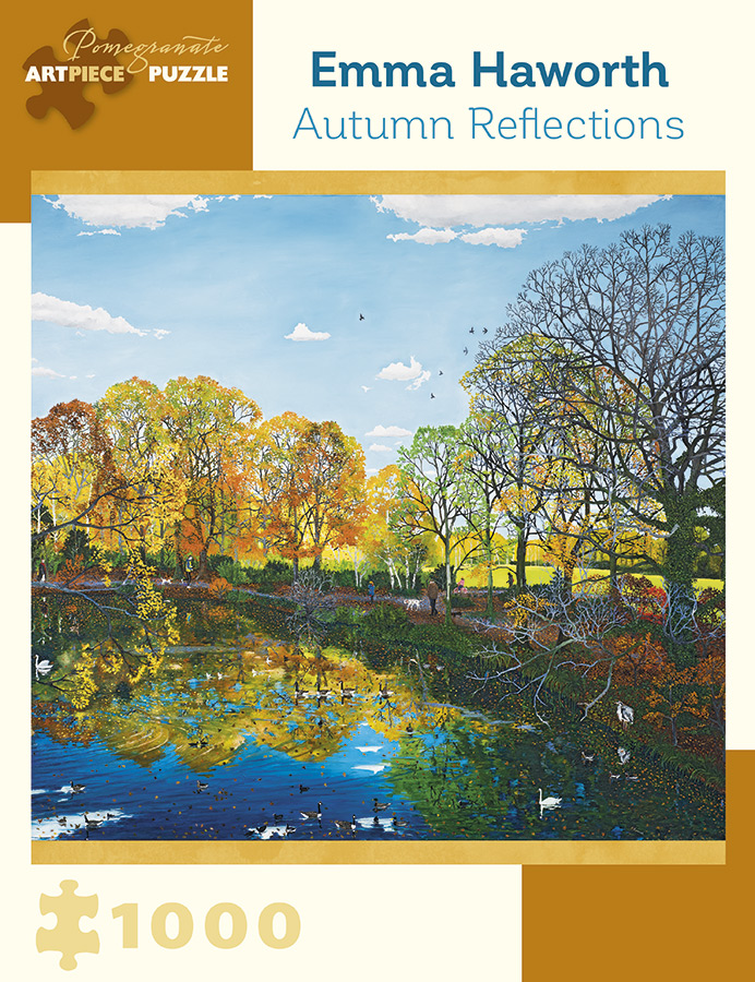 Autumn Reflections Birds Jigsaw Puzzle