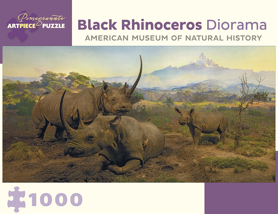 Black Rhinoceros Diorama Wildlife Jigsaw Puzzle