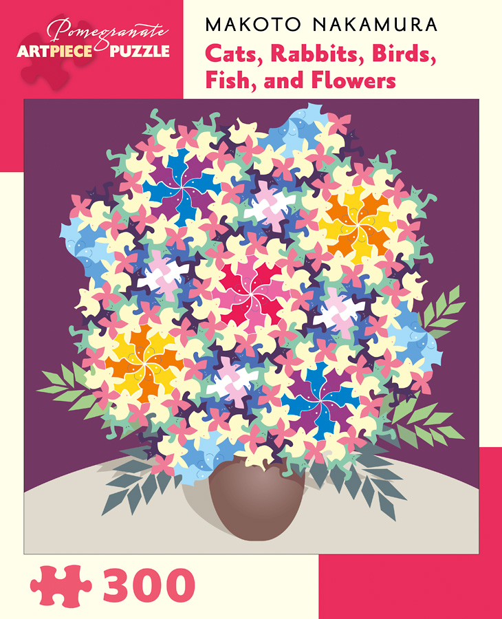 Cats, Rabbits, Birds, Fish, and Flowers Flowers Jigsaw Puzzle
