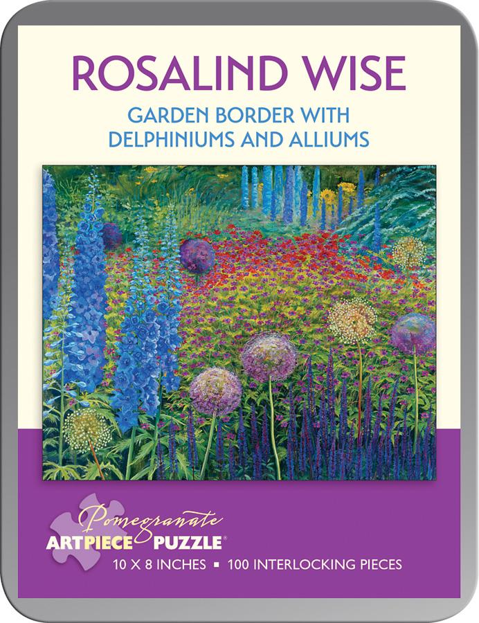 Delphiniums Alliums Flowers Jigsaw Puzzle