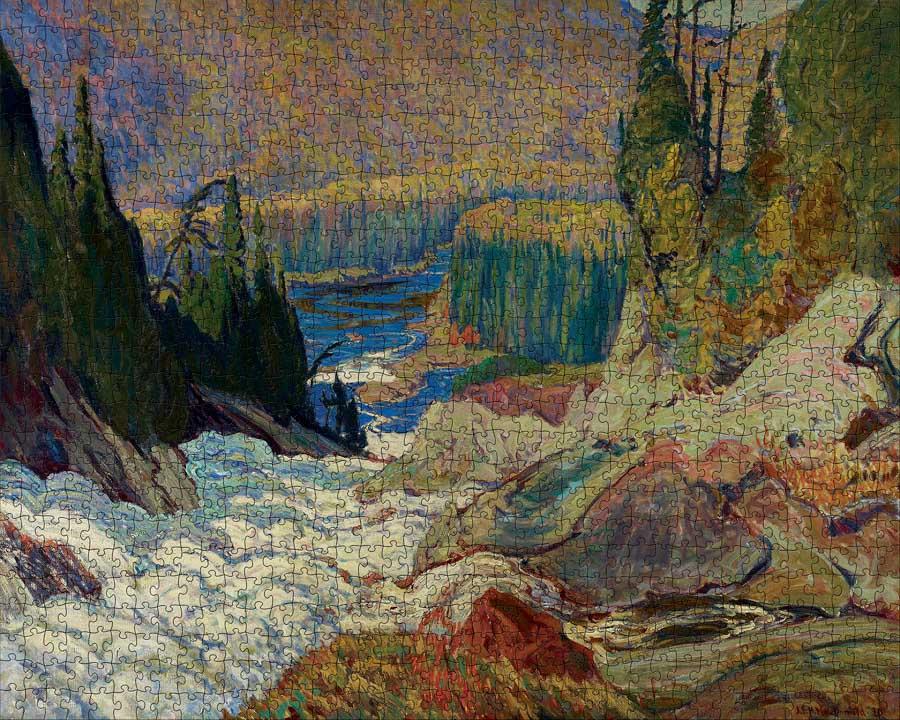 Falls, Montreal River Landscape Jigsaw Puzzle