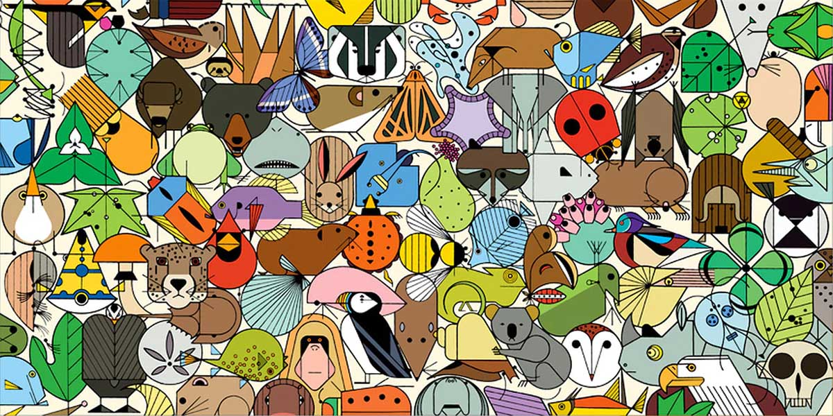 Beguiled by Wild Contemporary & Modern Art Jigsaw Puzzle