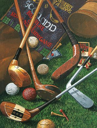 Golf Memories Nostalgic / Retro Jigsaw Puzzle