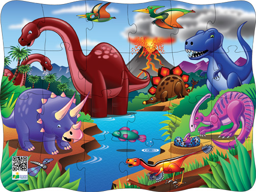 Puzzles in Motion-Click It! Dino Dinosaurs Children's Puzzles