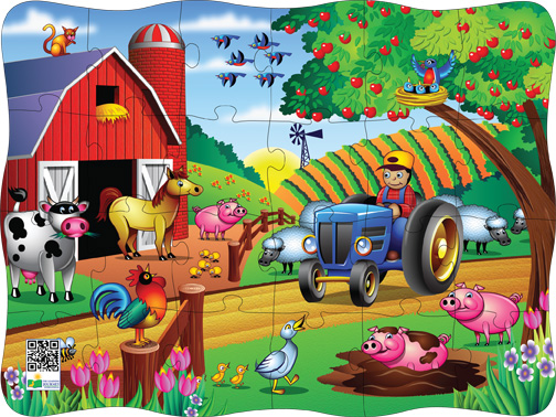 Puzzles in Motion-Click It! Farm Farm Children's Puzzles