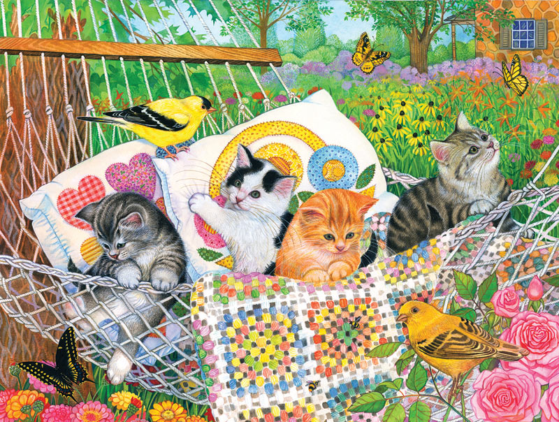 Swingin' into Summer Baby Animals Jigsaw Puzzle
