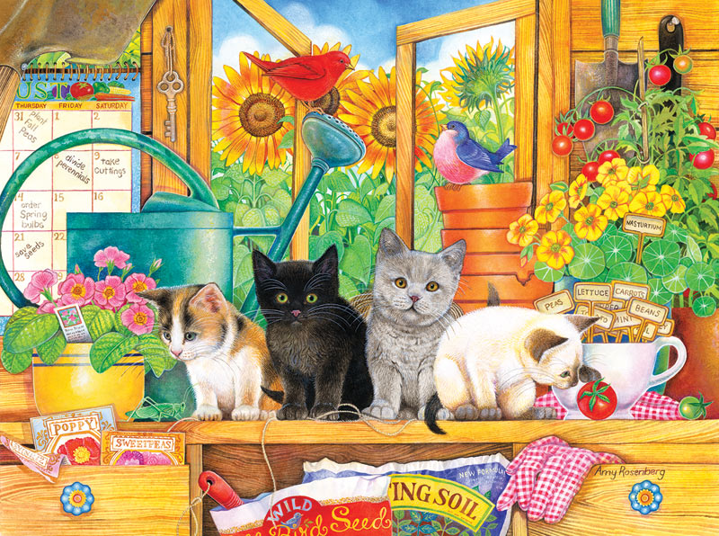 Potting Shed Kittens - Scratch and Dent Cats Jigsaw Puzzle