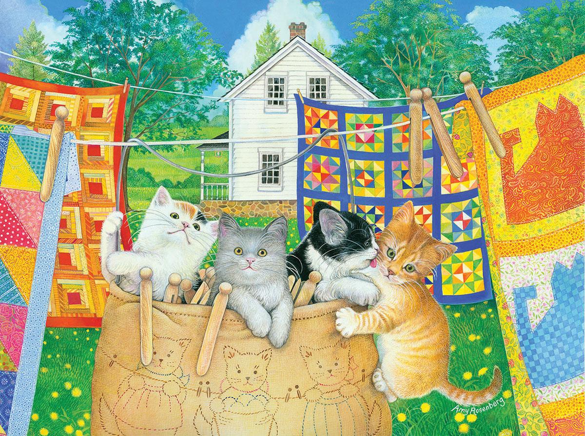 Clothesline Kittens