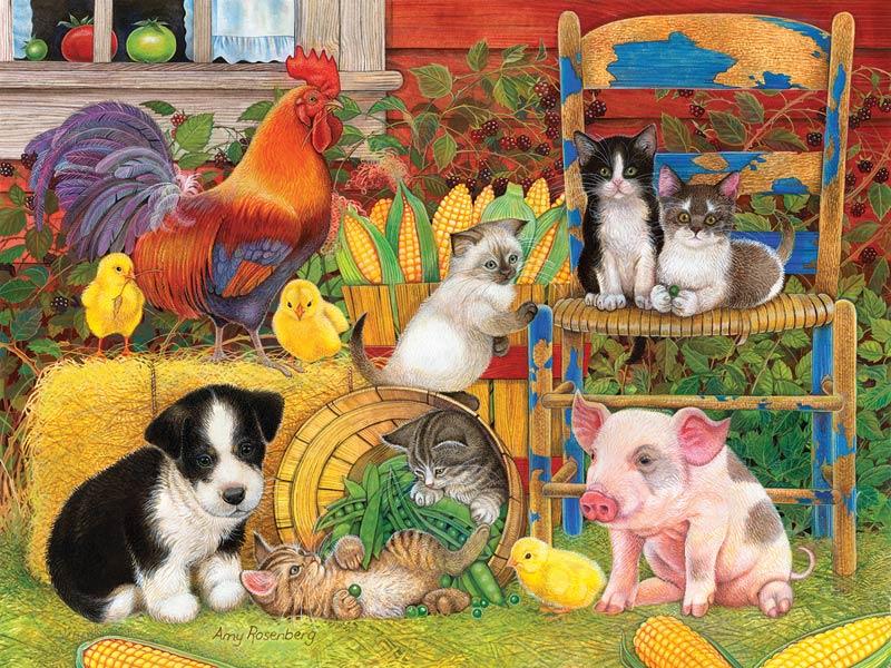 Farm Friends - Scratch and Dent Farm Jigsaw Puzzle