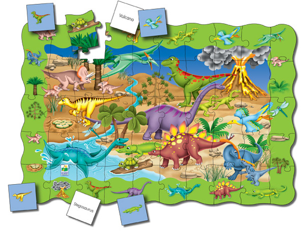 Puzzle Doubles Find It! Dinosaurs Dinosaurs Children's Puzzles