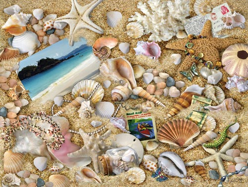 Vacation Memories Beach Jigsaw Puzzle
