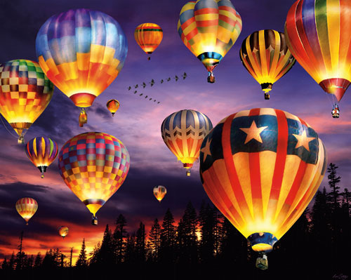 Balloons Aglow Balloons Jigsaw Puzzle