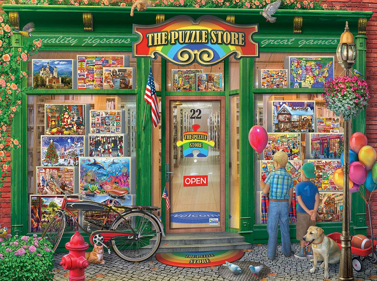 The Puzzle Store Street Scene Jigsaw Puzzle