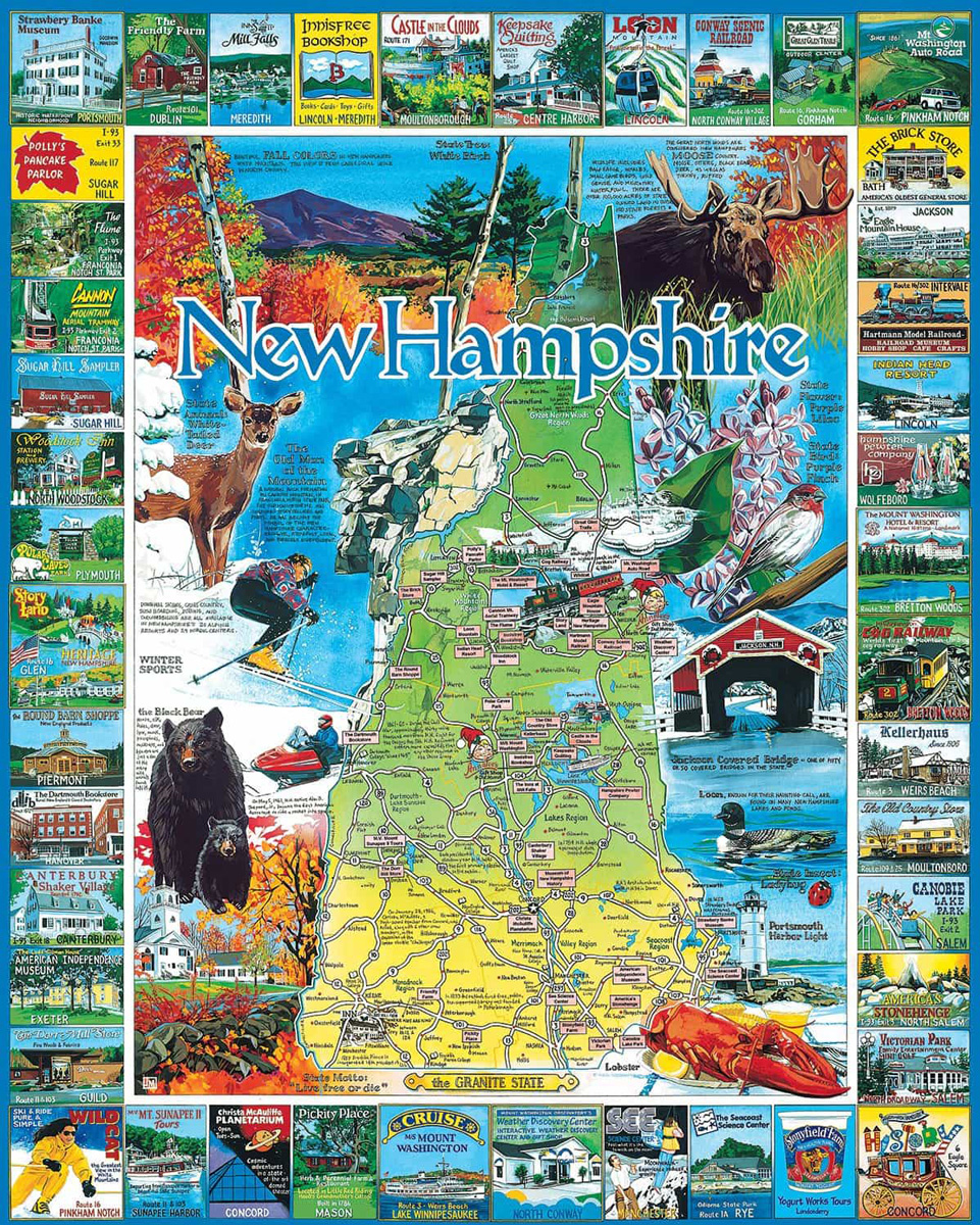 Best of New Hampshire Maps / Geography Jigsaw Puzzle