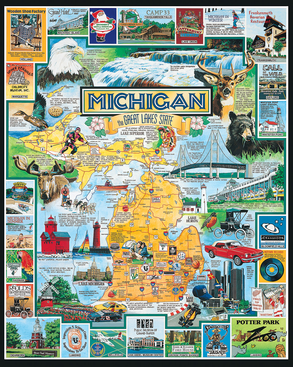 Best of Michigan Educational Jigsaw Puzzle