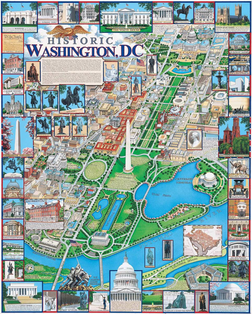 Historic Washington, DC Maps / Geography Jigsaw Puzzle