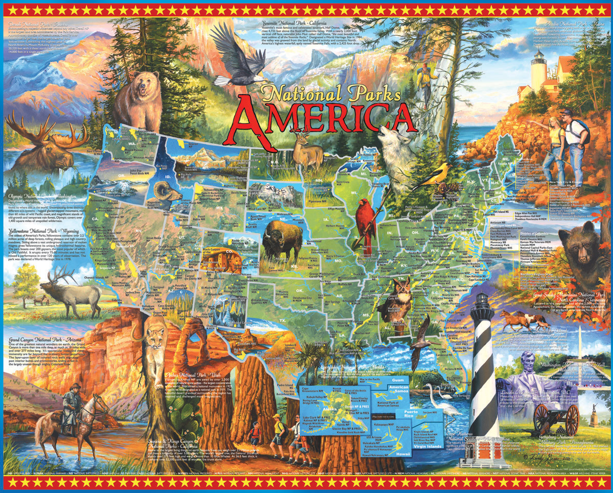 National Parks - Scratch and Dent Landmarks / Monuments Jigsaw Puzzle