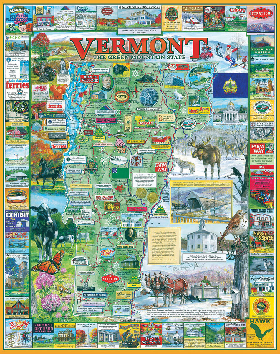 New Vermont Maps / Geography Jigsaw Puzzle