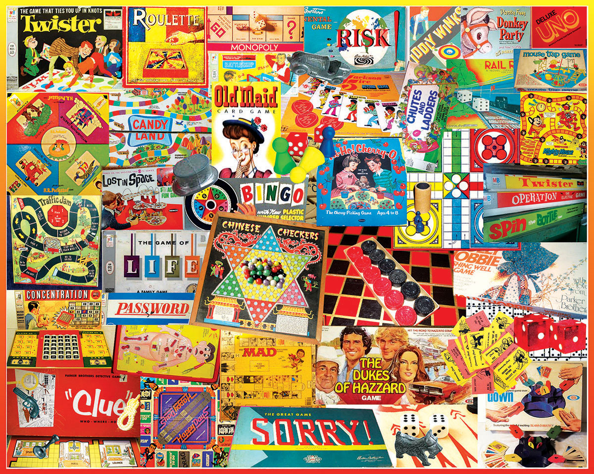 Games We Played Nostalgic / Retro Jigsaw Puzzle