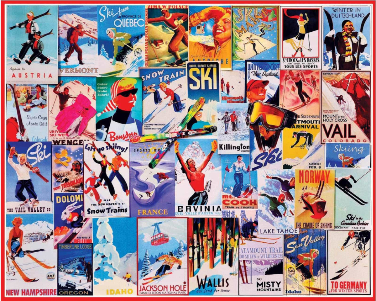 Ski Posters Graphics / Illustration Jigsaw Puzzle