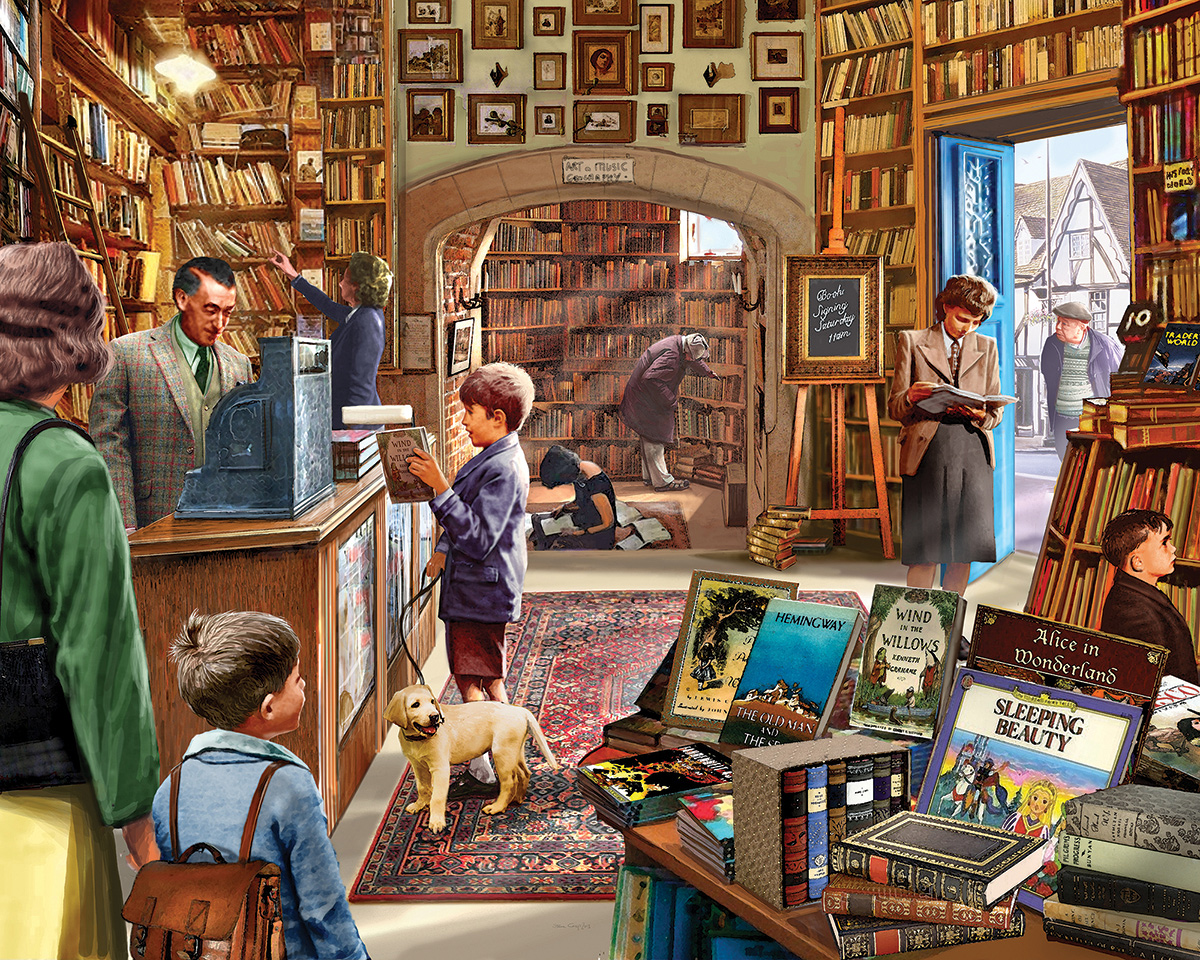 Old Book Store Library / Museum Jigsaw Puzzle