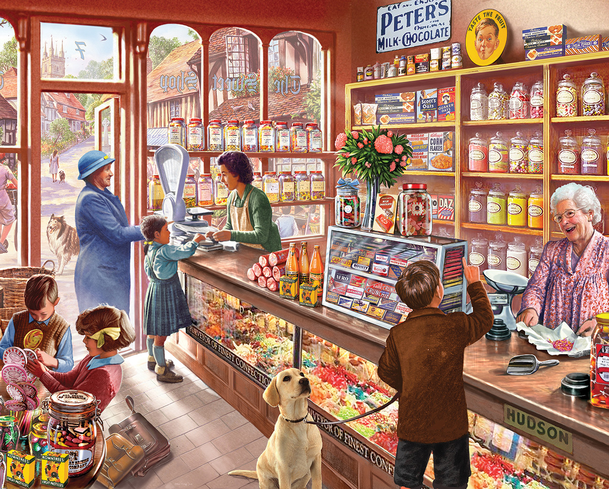 Old Candy Store General Store Jigsaw Puzzle