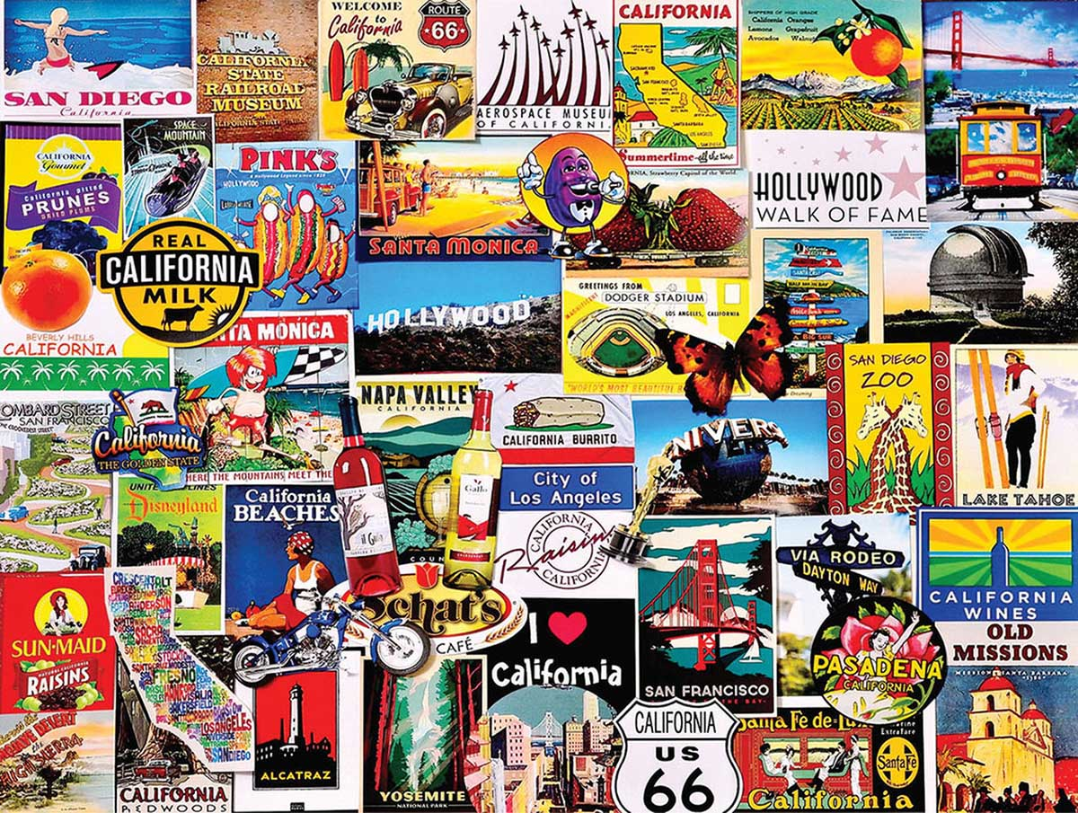 I Love California Travel Jigsaw Puzzle