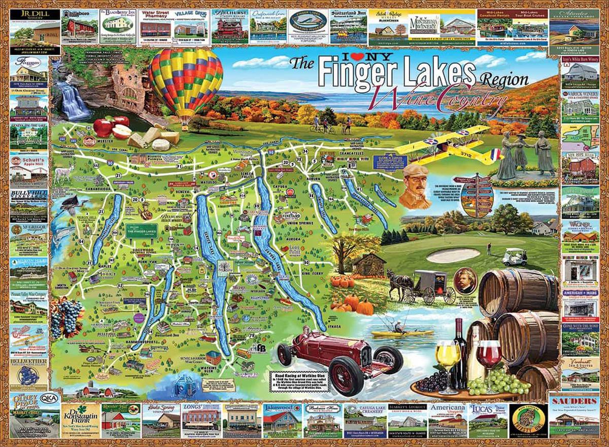 Finger Lakes, NY Landmarks / Monuments Jigsaw Puzzle
