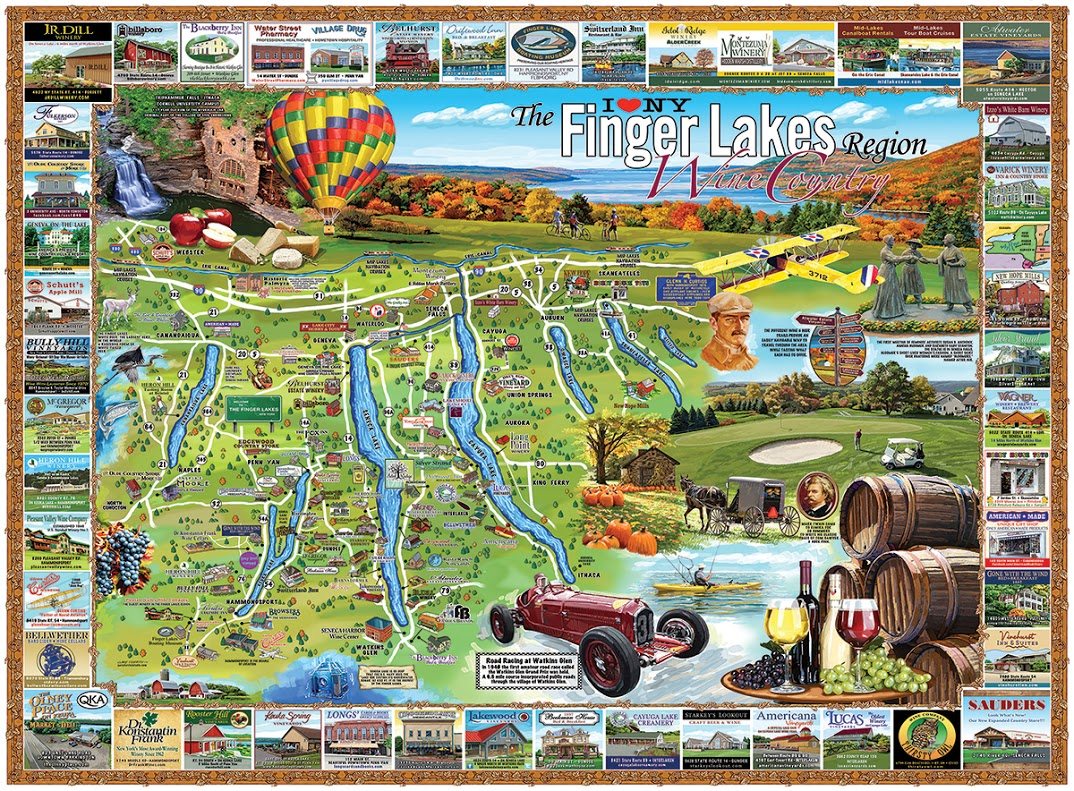 Finger Lakes, NY Educational Jigsaw Puzzle