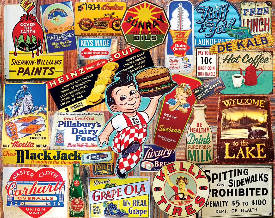 Vintage Signs Food and Drink Jigsaw Puzzle