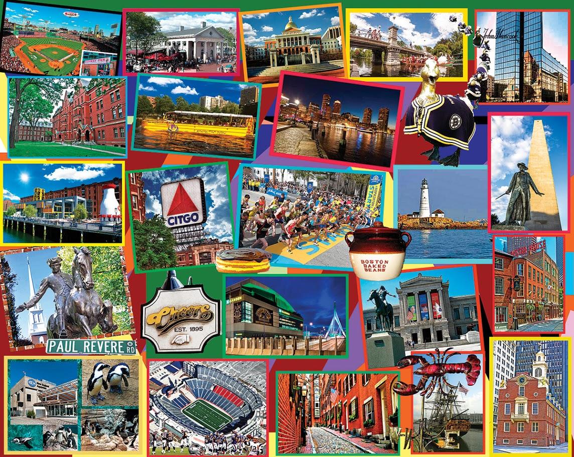 Boston Collage Landmarks / Monuments Jigsaw Puzzle